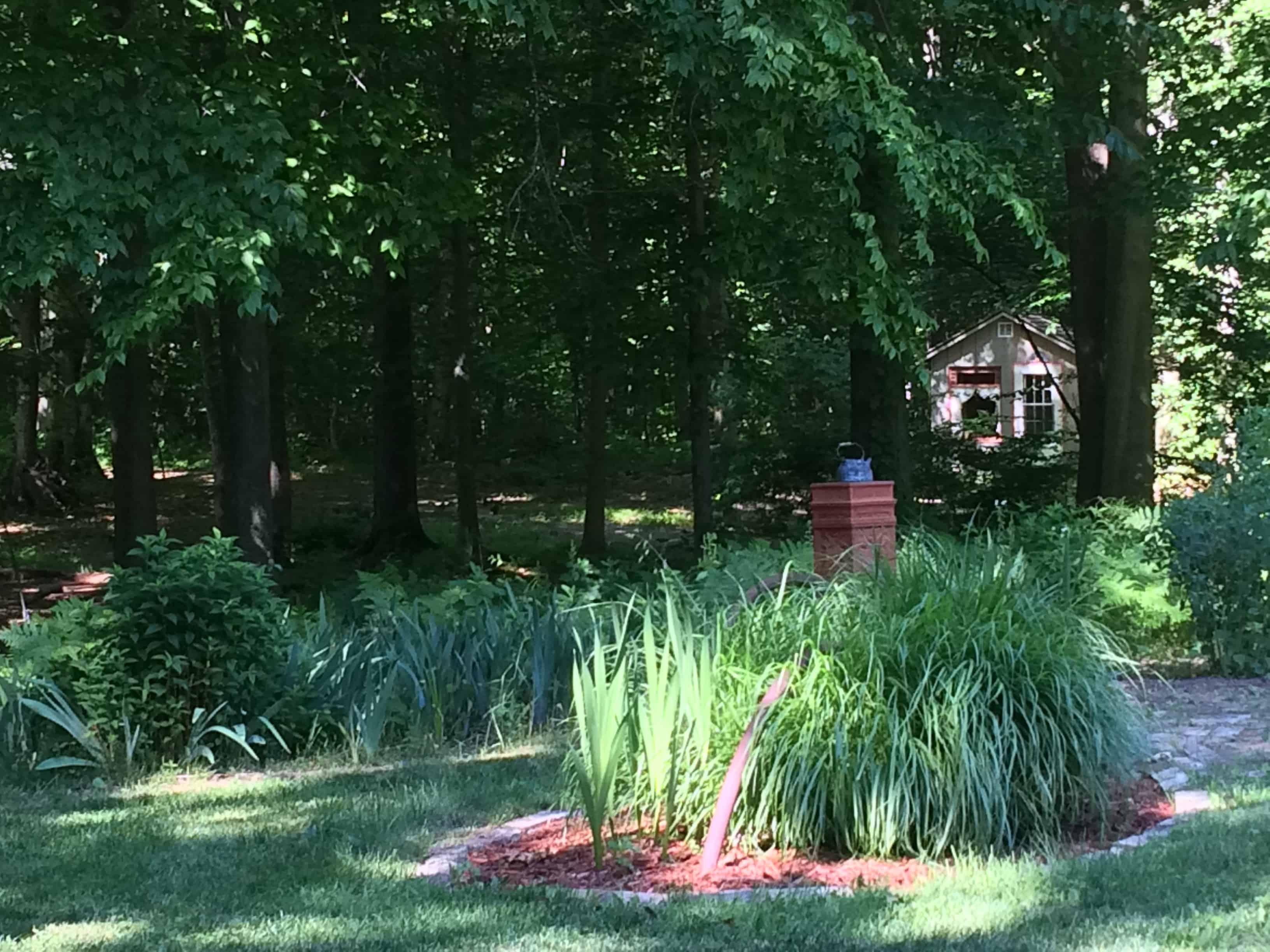 Garden with Artist's cabin