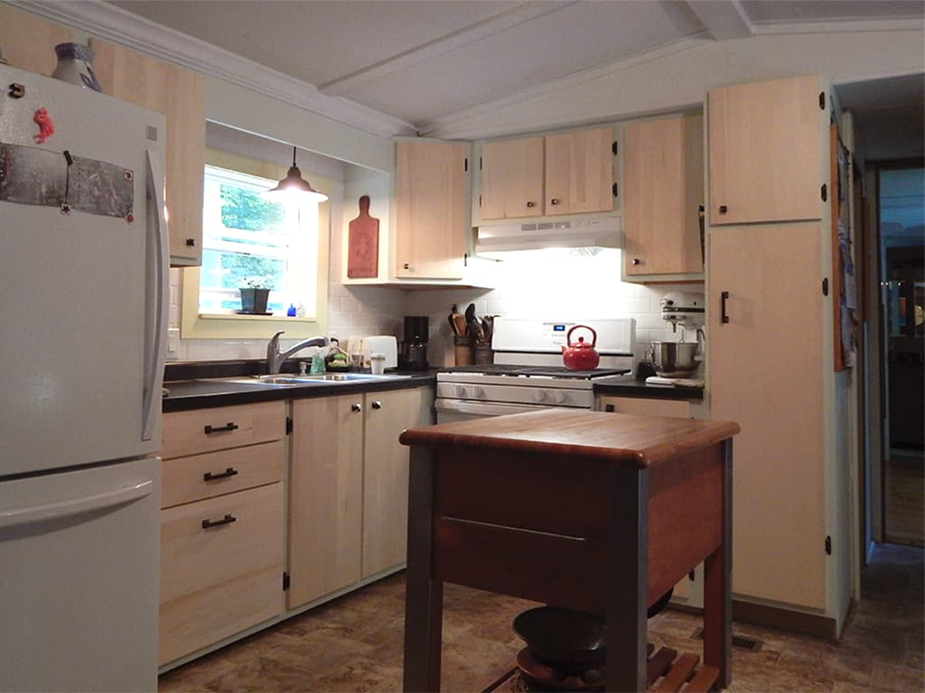 Kitchen in the main cabin