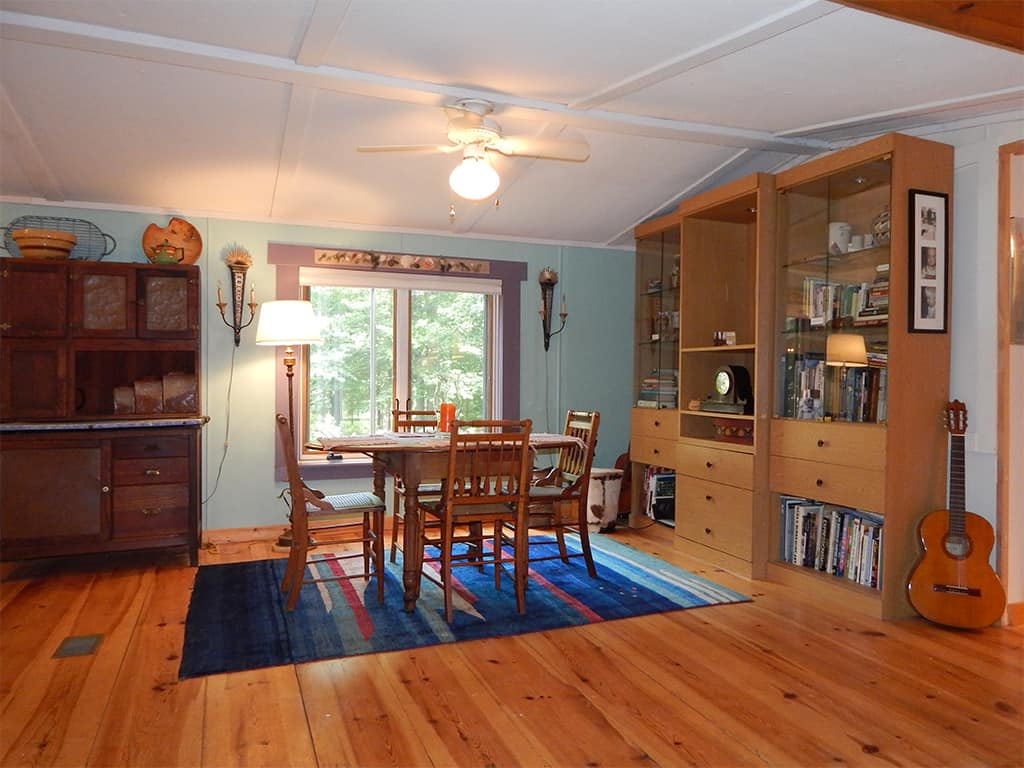 Dining room in the main cabin