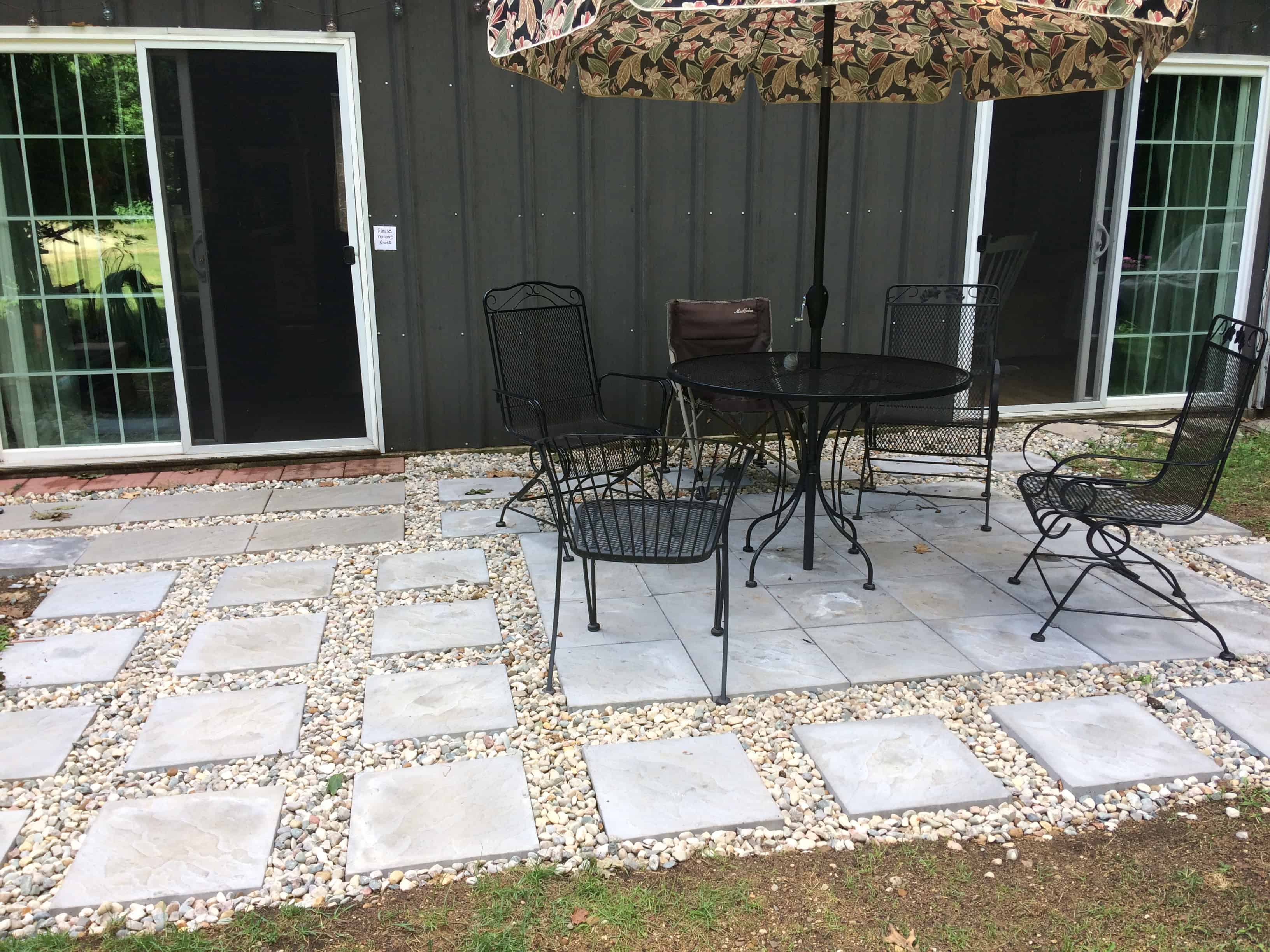 Patio by the barn