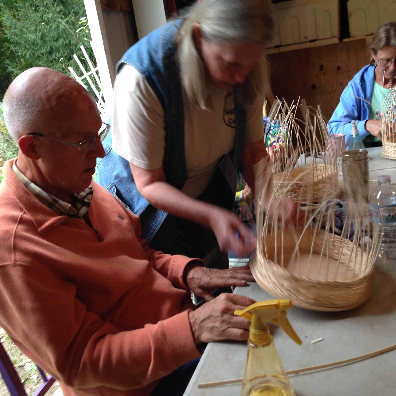 Jill Wood's wicker workshop