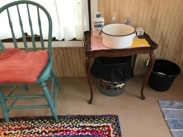 Inside Artist cabin 3